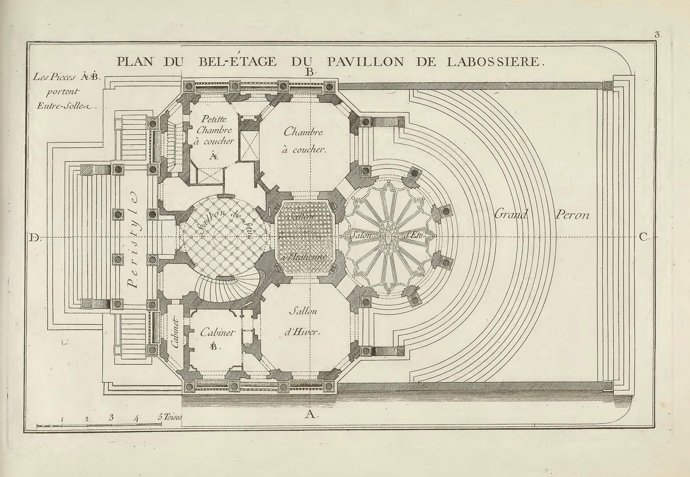 1113325 Tif Plan Du Bel étage Du Pavillon De Labossiere Fotoweb 8 0